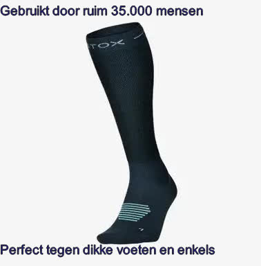 dikke voeten en enkels compressiesokken oplossing